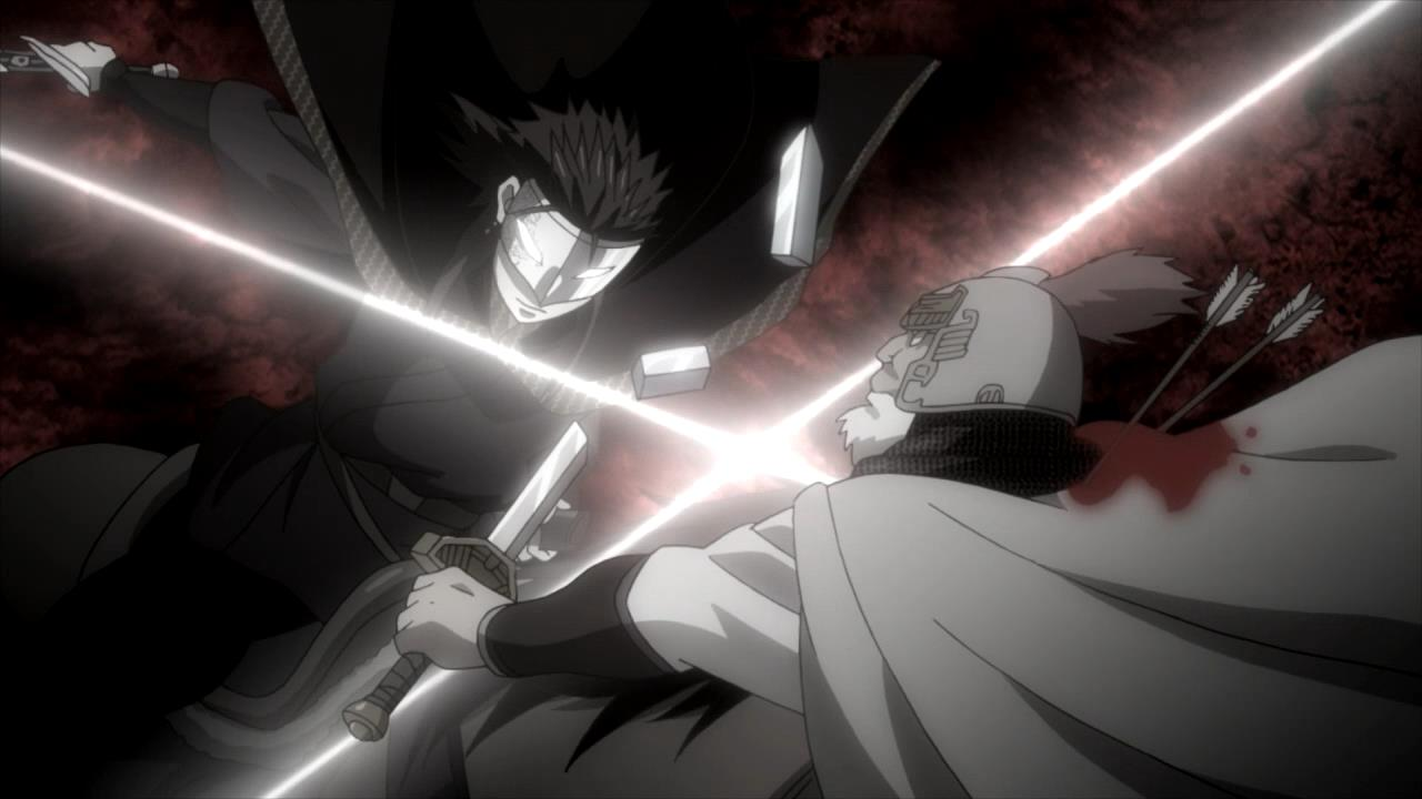 Arslan Senki 03 Silvermask Vehriz Fight Broken Sword Arrows Blood