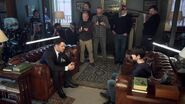 Father and Son Chat Filming