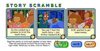 Game Binkys Story Scramble