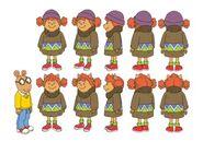 Arthur - Episode 192A Character Modelsheet - Sue Ellen in Sweater 2