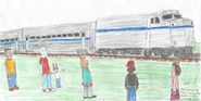 Arthur Passenger Train with F40 Locomotive