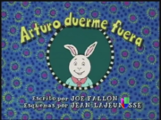 Arthur's First Sleepover Spanish