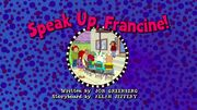 Speakupfrancinetitlecard uk