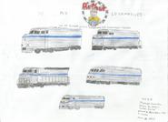 Locomotive Designs for Passenger Train on Arthur
