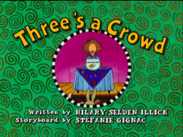 Three's a Crowd title card