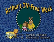 Arthur's TV-Free Week Title Card