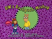 D.W.'s Backpack Mishap Title Card