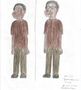 Demetre Adams as a Teenager (two drawings)