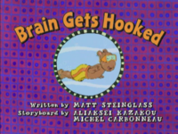 Brain Gets Hooked Title Card
