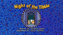 Night of the Tibble Title Card