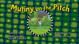 Mutiny on the Pitch Title Card