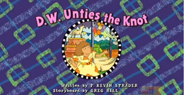 D.W Unties the Knot Title Card