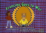 Francine Goes to War Title Card