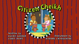 Citizen Cheikh Title Card