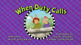 When Duty Calls Title Card
