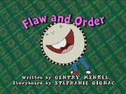 Flaw and Order Title Card