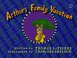 Arthur's Family Vacation Title Card