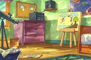 Brain bedroom art rain