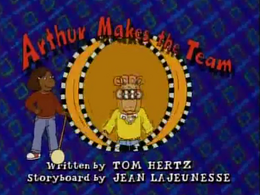 Arthur Makes the Team Title Card