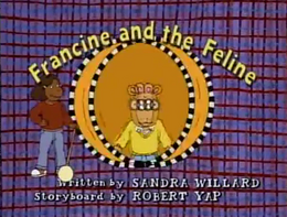 Francine and the Feline Title Card