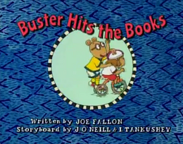 Buster Hits the Books Title Card