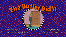 The Butler Did It Title Card