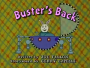 Buster's Back Title Card