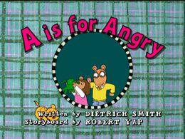 AisforAngry title card