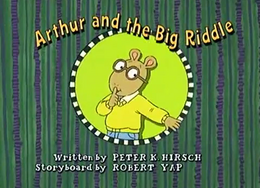Arthur and the Big Riddle Title Card