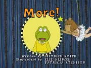 More! Title Card