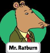 Francine's Tough Day Mr. Ratburn head 1