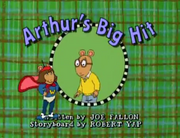 Arthur's Big Hit Title Card