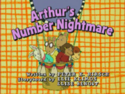 Arthur's Number Nightmare title card