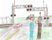 Demetre and Carl at Railroad Crossing2