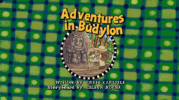 Adventures in Budylon Title Card
