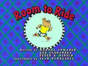 Room to Ride - title card