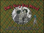 D.W.'s Very Bad Mood Title Card