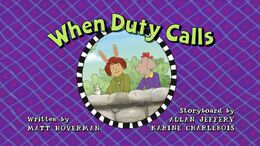 When Duty Calls Title Card