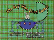 The Boy Who Cried Comet Title Card