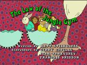The Law of the Jungle Gym - title card