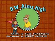 D.W. Aims High Title Card