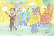 Demetre, Buster, Arthur, and Binky Aug-Sept 2016 1