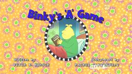Binky's 'A' Game title card