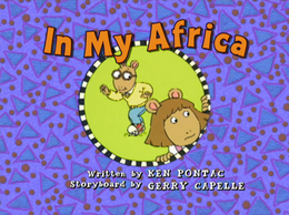 In My Africa Title Card 2