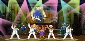 U Stink with the Backstreet Boys on Stage