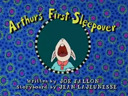 Arthur's First Sleepover Title Card