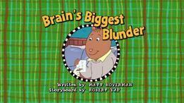 Brain's Biggest Blunder Title Card