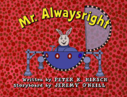 Mr. Alwaysright Title Card