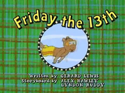 Friday the 13th Title Card