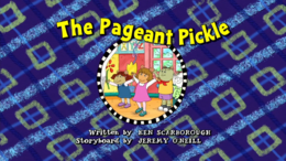 The Pageant Pickle Title Card